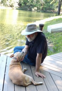 Two Old Dogs on Dock